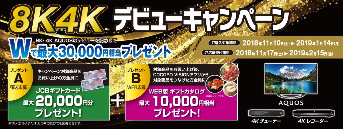8K4Kデビューキャンペーン